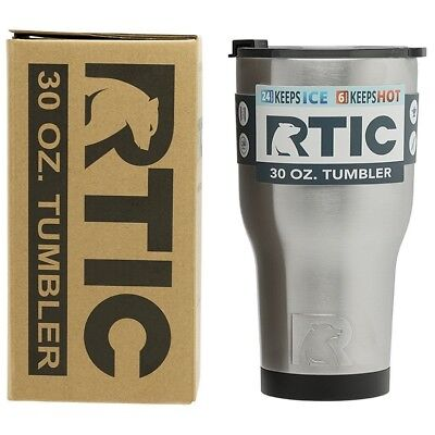 RTIC 30 Oz Stainless Steel Tumbler Vacuum Insulated Double Wall Silver NEW