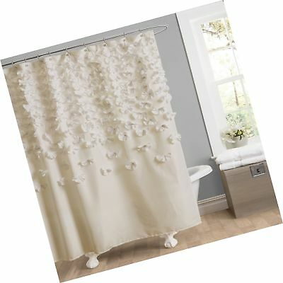 Lush Decor Lucia Shower Curtain 72 Inch By Ivory Free