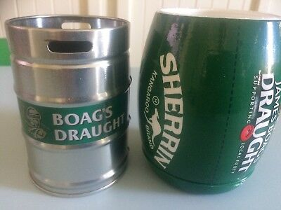 New James Boags Draught Stubby Holders X 2