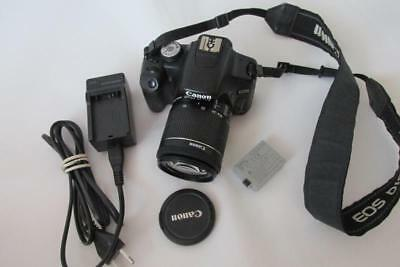 Canon EOS 500D 15.1MP Digital-SLR DSLR Camera (Camcorder) +EF-S 18-55mm STM Lens