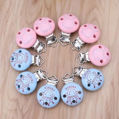 5 PC Baby Pacifier Clips Mixed Pattern Holders Cute Infant Soother Clasps Holder