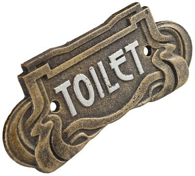 Toilet - Art Nouveau Cast Iron Sign Plaque