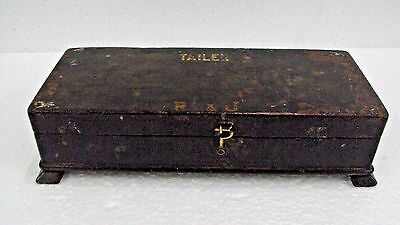 Old Wooden Handcrafted Rectangular Shape Hand Painted Pen/Pencil Box