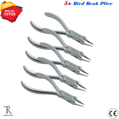 5 x Bird Beak Plier Ortho Braces Wire Bending Forming Pliers Orthodontic Tools
