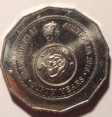 2016 Australian 50 Cent Coin Fifty Years Of Decimal Currency Circulated