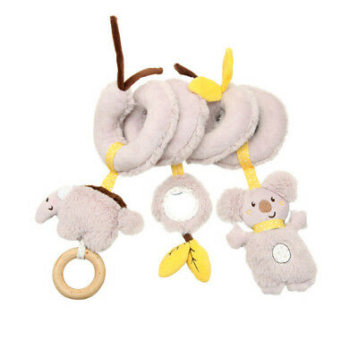 Bear Sheep Infant Hanging Bell Rattle Crib Plush Spiral With Mirror Teether N7
