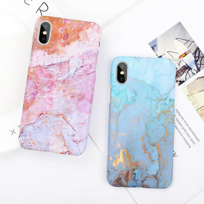 Ultra Slim Marble Pattern Hard Back Case Cover for iPhone XS Max XR 6s 7 8 Plus