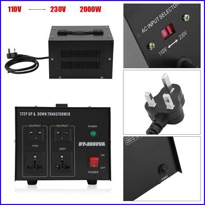 2000W Converter Step Down / Up AC Transformer 240V to 110V UK-US/Janpan Voltage