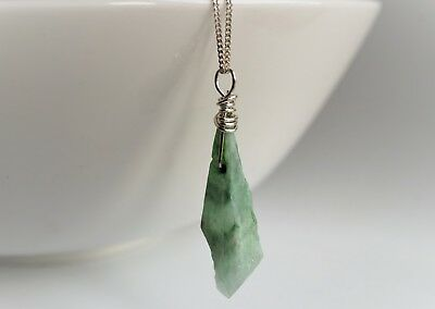 Raw Crystal Quartz AB Water Drop Pendant Necklace *Sterling silver *Raw energy