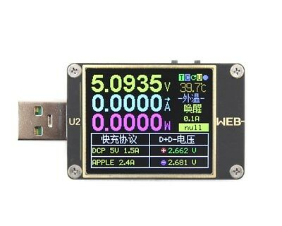 WEB-U2 USB Current / Voltage Meter QC4+ PD3.0 2.0 PPS Fast Charge Protocol Teser