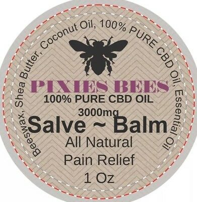 3000mg HEMP  OIL CBD PAIN RELIEF OINTMENT BALM ~ SALVE All Natural 1 OZ