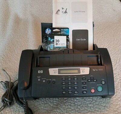 HP 1010 FAX MACHINE SCAN PRINT COPY TELEPHONE - USED With New Ink and Manual