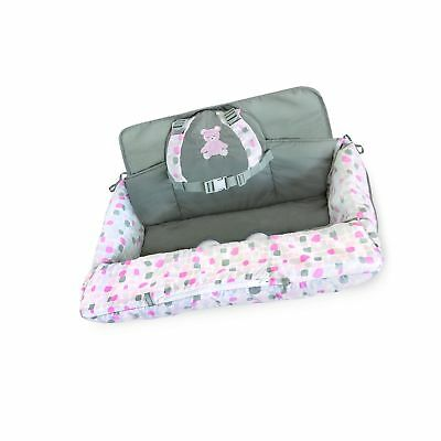 Carter's 2-in-1 Shopping Cart and High Chair Cover Bear, Pink/W... Free Shipping