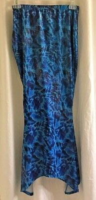 fb1641c875 JUSTICE Girl's Shimmer Mermaid Tail Swim Beach Long Skirted Cover Up Sz  Large