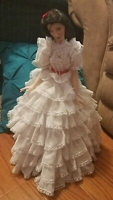 "1991 Gone with the Wind ""Scarlett O'Hara""  Franklin Mint Porcelain Doll. EUC"