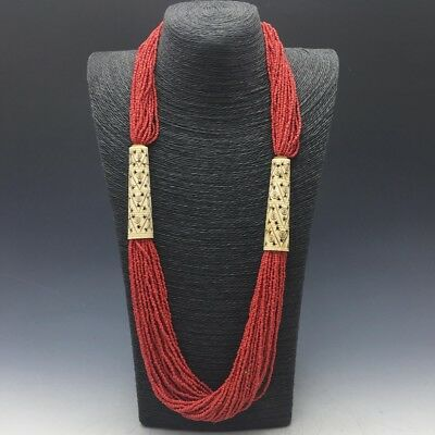 China's exquisite handmade coral necklace a462