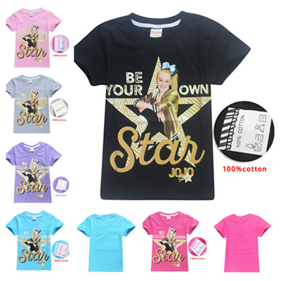 2019 Hot 100% cotton Kids Girls JoJo Siwa T- Shirts Casual Tops Clothes Gift