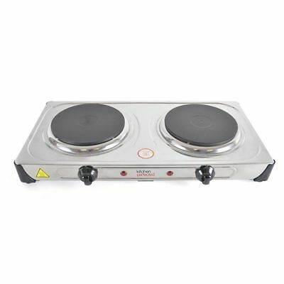 Hot Plate 2000W Double Electric Cooker Hob Table Top Kitchen Portable