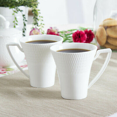 PORZELLAN Tasse Kaffeebecher Teebecher Becher DUO 310 ml 2er SET