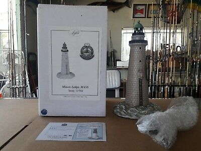 """Lefton Historic American Lighthouse Collection Minots Ledge 12"""" Tall Lighthouse"""