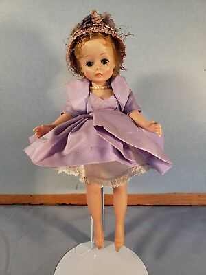 Vintage 1950's Madame Alexander Bent Leg Cissette Doll in Tagged Dress