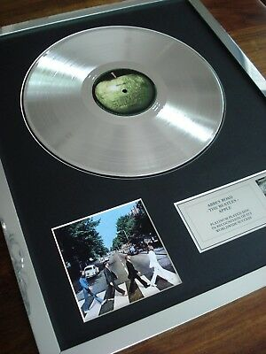 The Beatles Abbey Road Lp Platinum Plated Disc Record Award Album