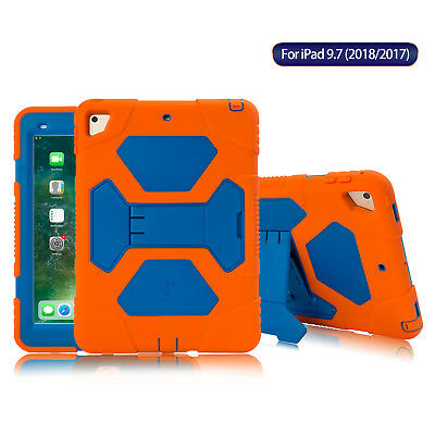 For New iPad 6th Generation 9.7'' 2018 Case Shockproof Rugged Hard Stand Cover