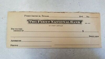 Vintage Book of 8 The First National Bank Port Arthur, Texas 1940's