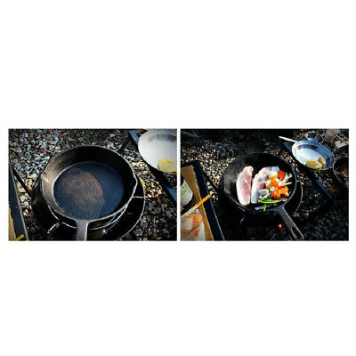 Vintage Cast Iron Skillet Frying Pan Camping Hiking Backpacking Cookware