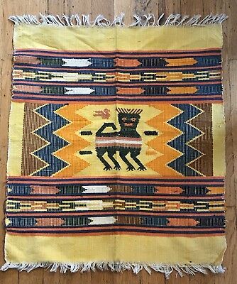 """Vintage Southwestern Colorful Table Cloth ? Handmade Mexico ? Africa ? 21"""" X 23"""""""
