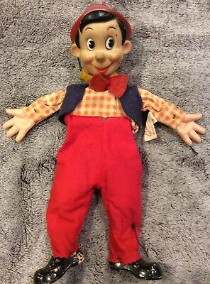 WALT DISNEY Gund PINOCCHIO PUPPET No Strings
