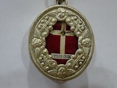 ✝ Reliquary Relic TRUE CROSS CRUCIS D.N.J.C. From OUR LORD JESUS