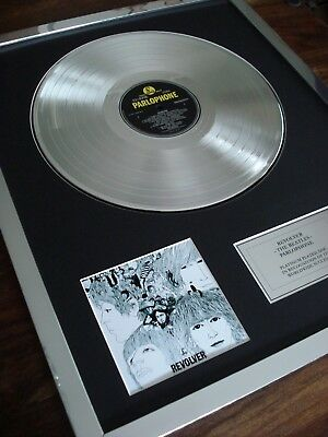 The Beatles Revolver Lp Platinum Plated Disc Record Award Album