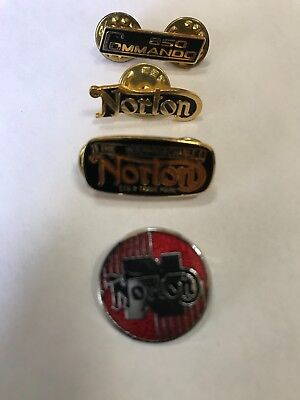 Norton motorcycle pins-early 1980's vintage.