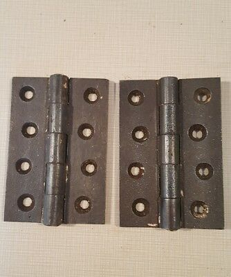 Pair of old door hinges 3 1/2""