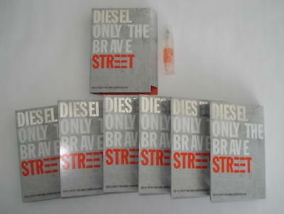 Lot 7 Echantillons Diesel Only The Brave Street Eau De Toilette 1.2 Ml Tigettes