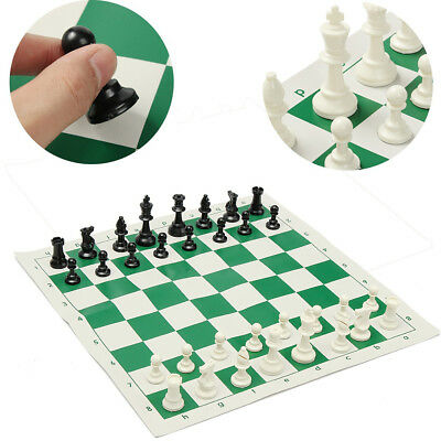 KE_ Portable 32 Pieces Intelligence Contemporary Tournament Chess Set Travel G