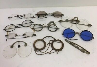 LOT OF ANTIQUE 18th and 19th Century CHINESE EYEGLASSES, Some For Parts/Repair