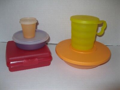 TUPPERWARE ~ LOT OF LUNCH CONTAINERS Bowl Mug Sandwich Keeper Midget Wonder