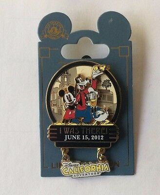 """Disney's California Adventure Grand Opening June 15, 2012 """"I Was There"""" LE Pin"""