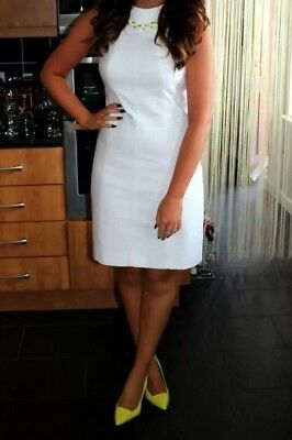 White Ted Baker Dress Size 10