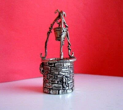 """rare Russian imperial 84 SILVER Toy """"Russian well with water"""" workmaster AH"""