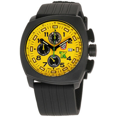 Luminox Tony Kanaan 1100 Series Yellow Dial Silicone Strap Men's Watch 1105