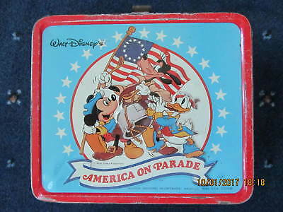 Vintage Walt Disney America On Parade Metal Lunch Box with No Thermos
