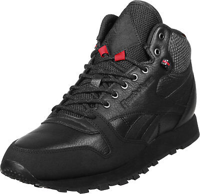 64f7baa43 REEBOK CLASSIC LEATHER Mid Twd Black Men's Shoes Sneakers Size 13 - $52.99    PicClick