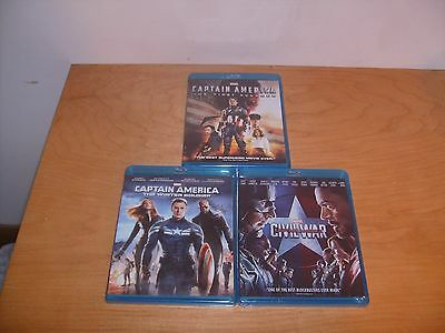 Captain America: The Winter Soldier + Civil War (DVD/Blu-ray  combo sets) NEW!!
