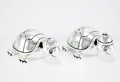 Tooth Box Curl Turtle Silver Plated Child Christening Birthday Gift Engraving