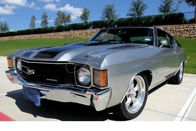 1972 Chevrolet Chevelle SS 454 V8 CLASSIC CAR OLD SCHOOL ANTIQUE RESTOMOD MUSCLE CAR CHEVELLE CHARGER ROAD RUNNER
