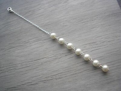 10daf Pearl Backdrop attachment for a necklace Clip-on Bridal bridesmaid Wedding