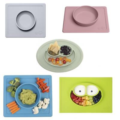 Ezpz Infant Toddler 2 in 1 Silicone Suction Placemat and Feeding Plate or Bowl